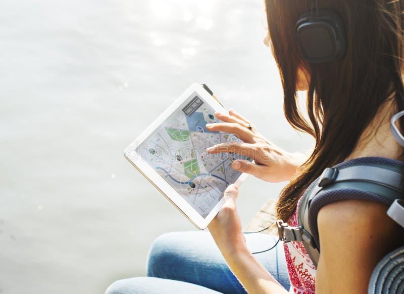 户外远征旅行旅行癖探索概念 库存图片