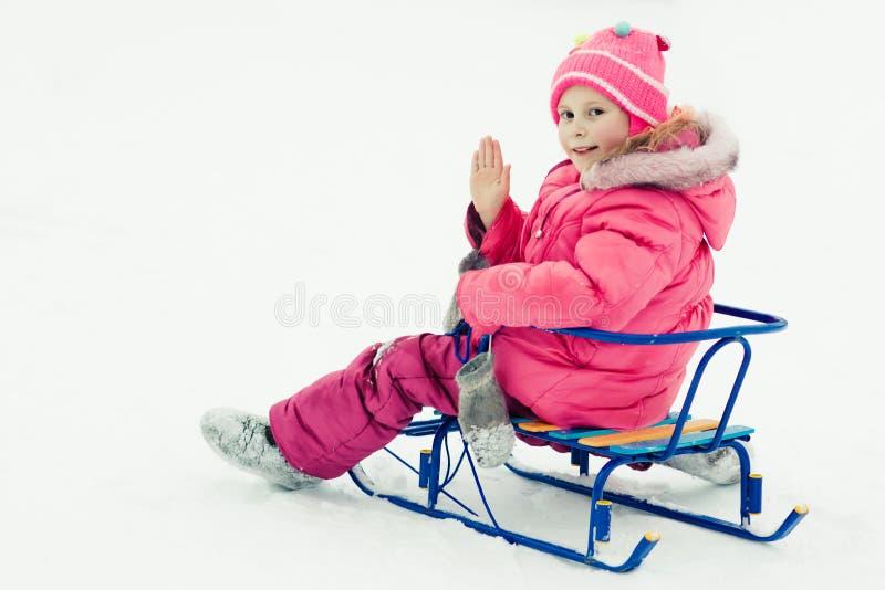 户外婴孩冬天。 图库摄影