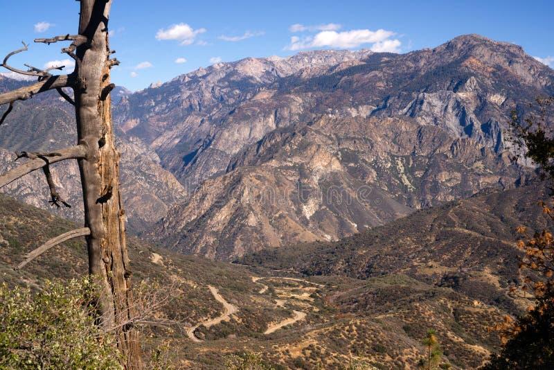 户外Canyon加利福尼亚内华达山国王的范围 库存图片