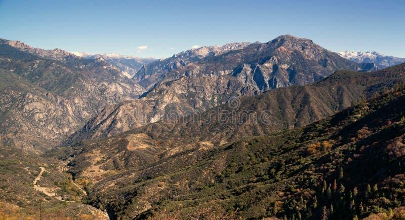 户外Canyon加利福尼亚内华达山国王的范围 免版税库存图片