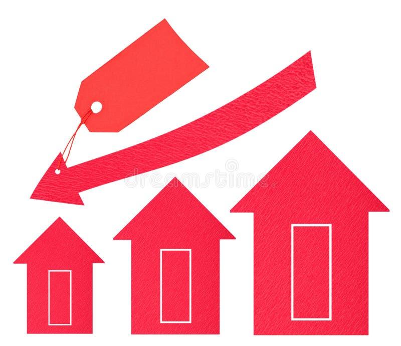 房产市场。 价格下跌 图库摄影