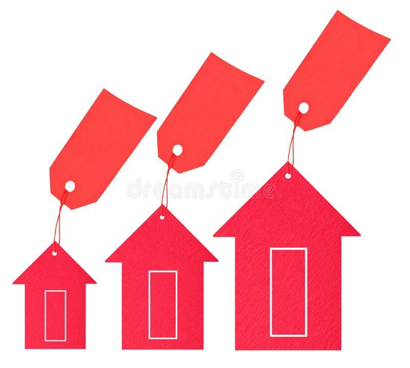 房产市场。 价格下跌 免版税库存图片