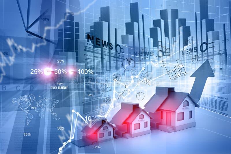 房产市场的图表 库存例证