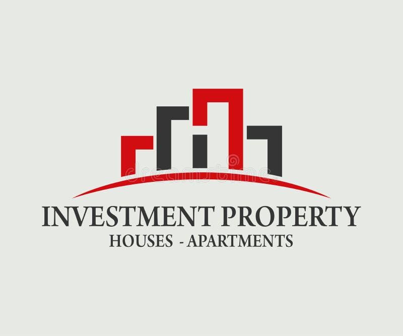 房地产、大厦、建筑和建筑学商标传染媒介设计 向量例证