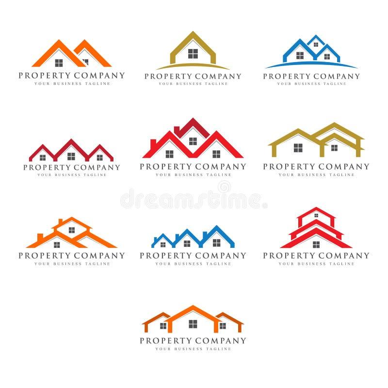 房地产产权公司商标 皇族释放例证