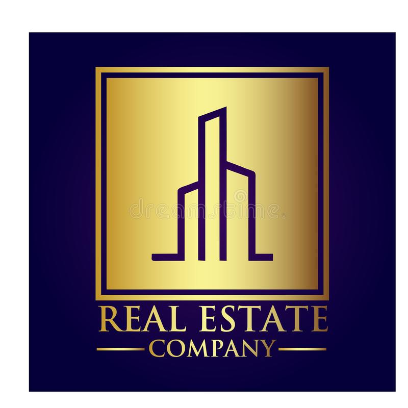 房地产产权公司商标 免版税库存照片