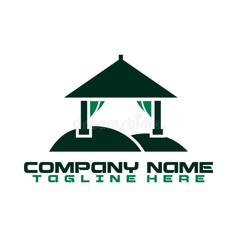 Logo for real estate company or agency 向量例证