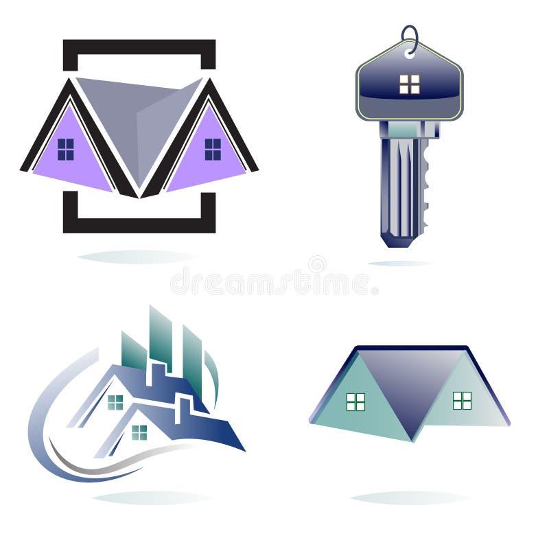 房地产商标汇集 库存例证