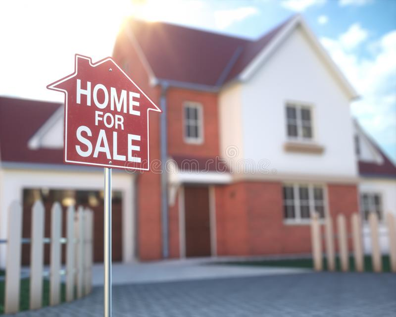 房地产家庭企业和财务 库存照片