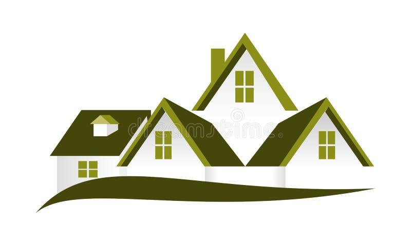 房地产屋顶传染媒介 向量例证
