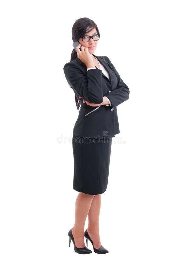 房地产开发商或女推销员 免版税图库摄影