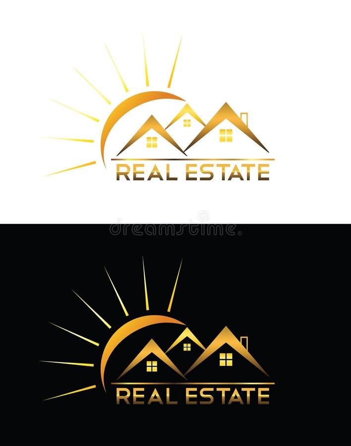 房地产房子商标 皇族释放例证