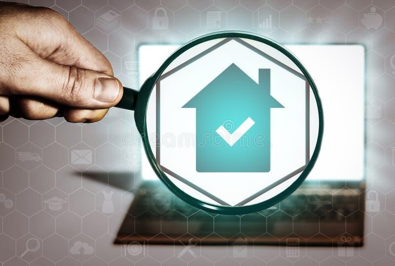 房地产查寻,购买,销售,租,地产商服务 皇族释放例证
