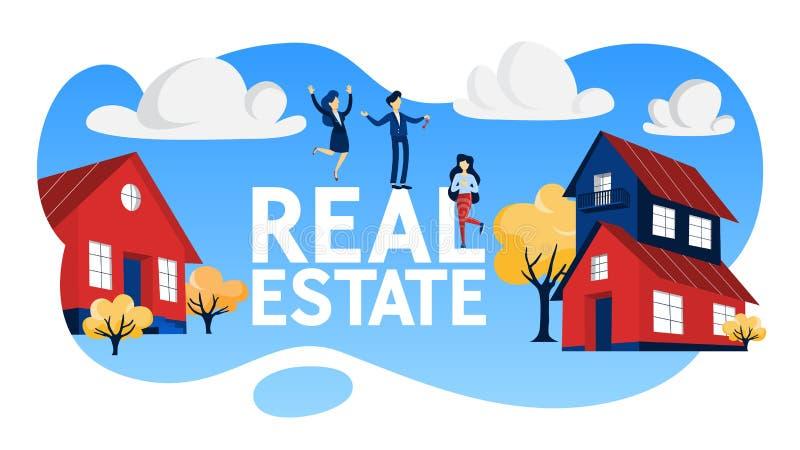 房地产概念例证 Bying和销售物产 皇族释放例证
