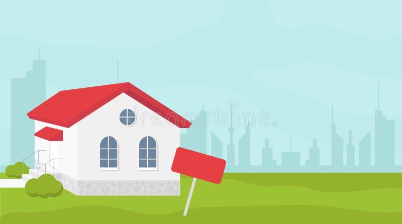房地产网站倒栽跳水设计 向量例证