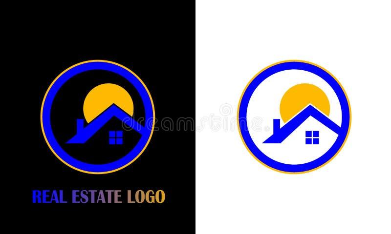 房地产/房子商标设计 创造性的商标设计 库存例证