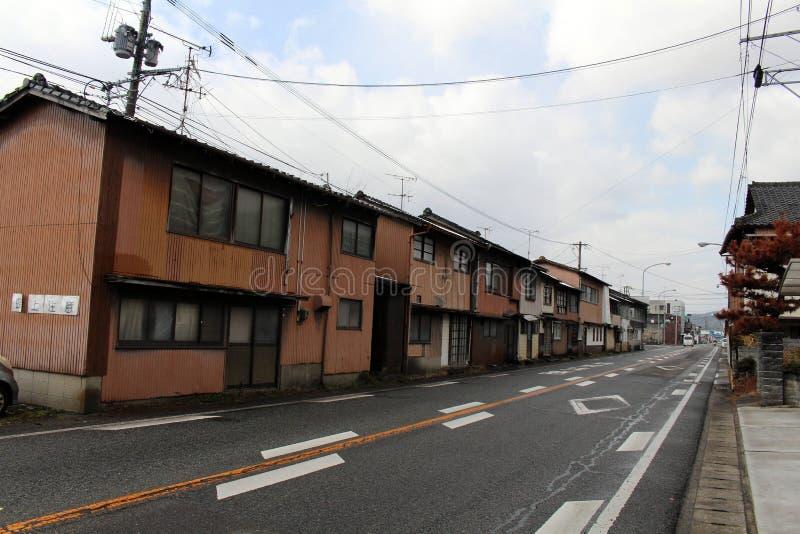 房子、窗口和门在Hizen山口驻地, J附近 免版税库存照片