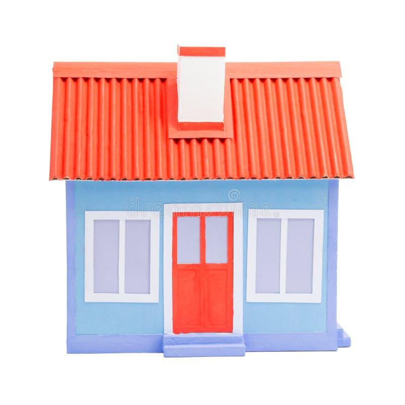 房子一个蓝色模型  库存照片