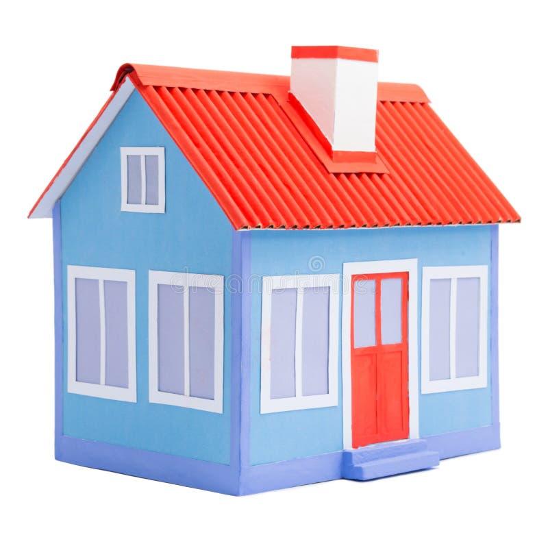 房子一个蓝色模型  免版税图库摄影