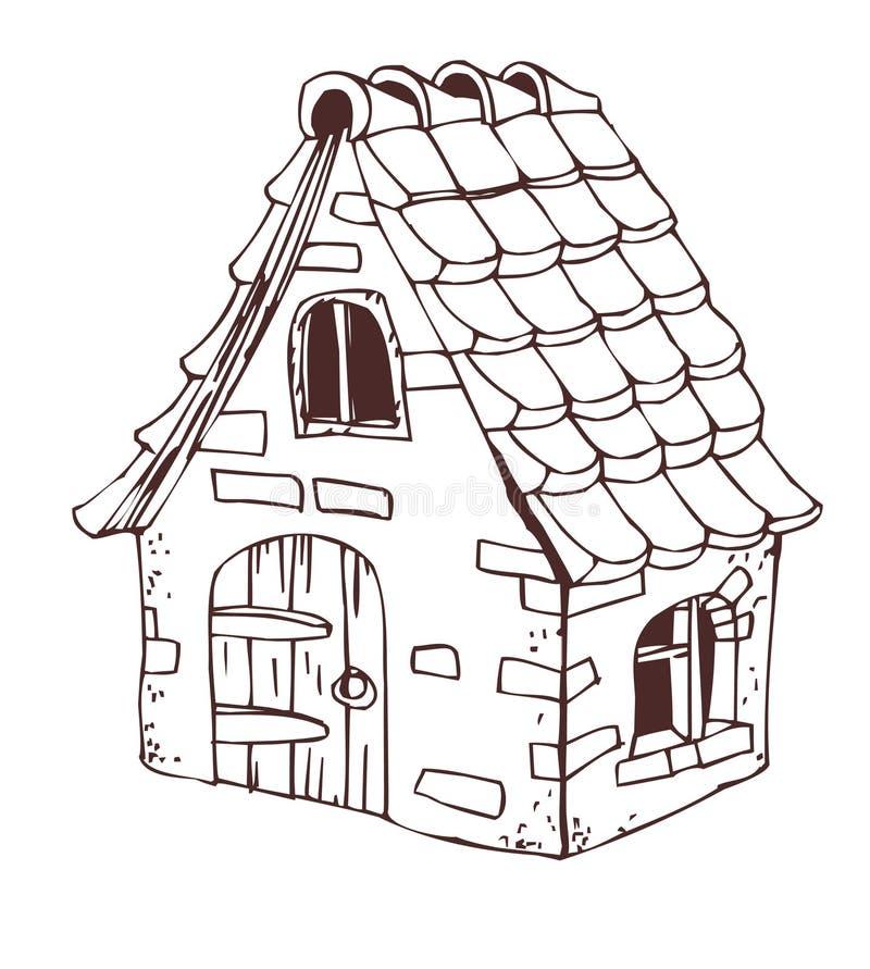 房子一点 向量例证