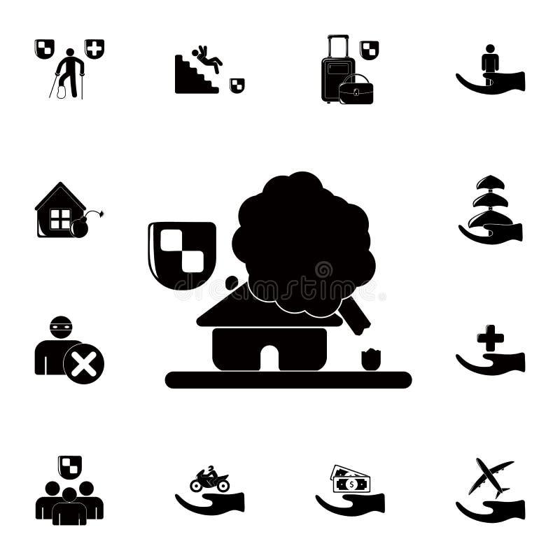 房子下落家象 详细的套保险象 优质质量图形设计标志 其中一个websit的汇集象 向量例证