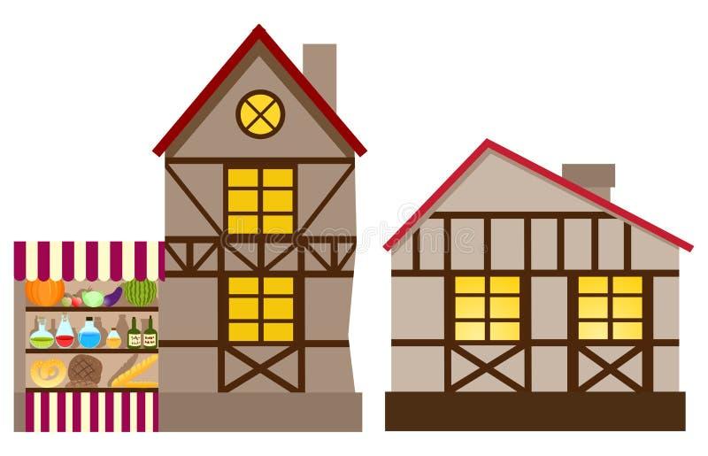 房子中世纪界面 皇族释放例证