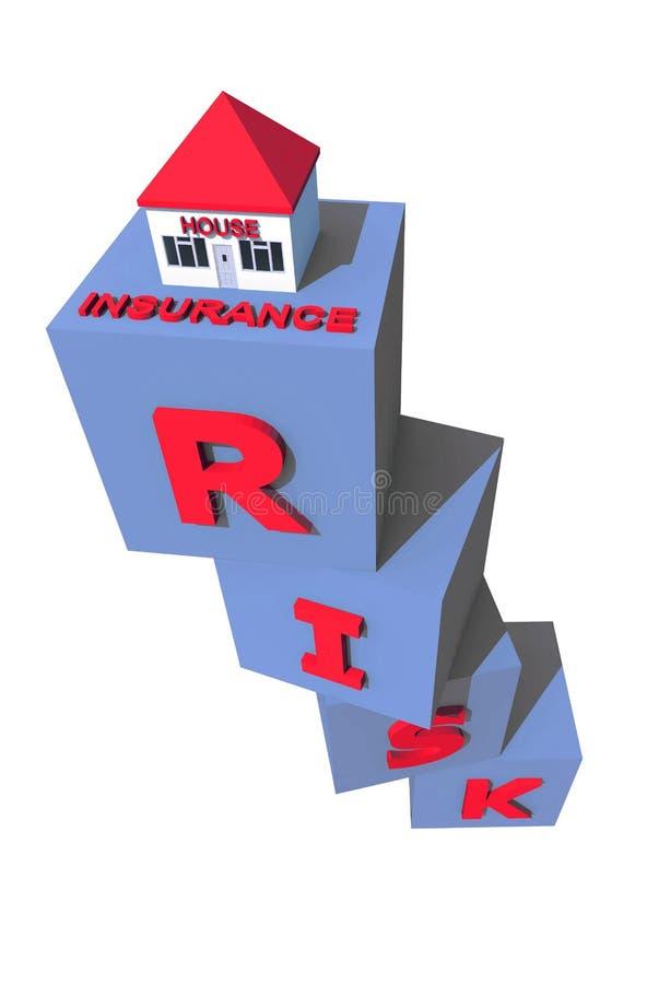 房子保险 向量例证