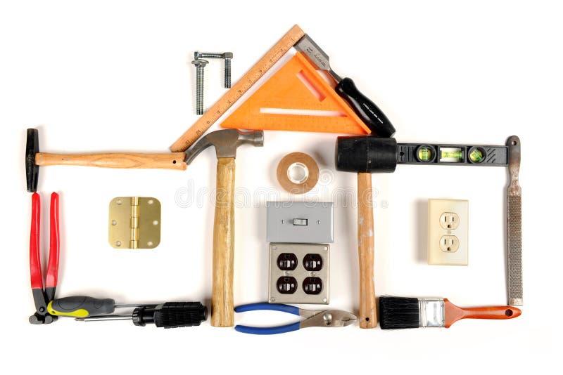 房子做工具 免版税库存照片