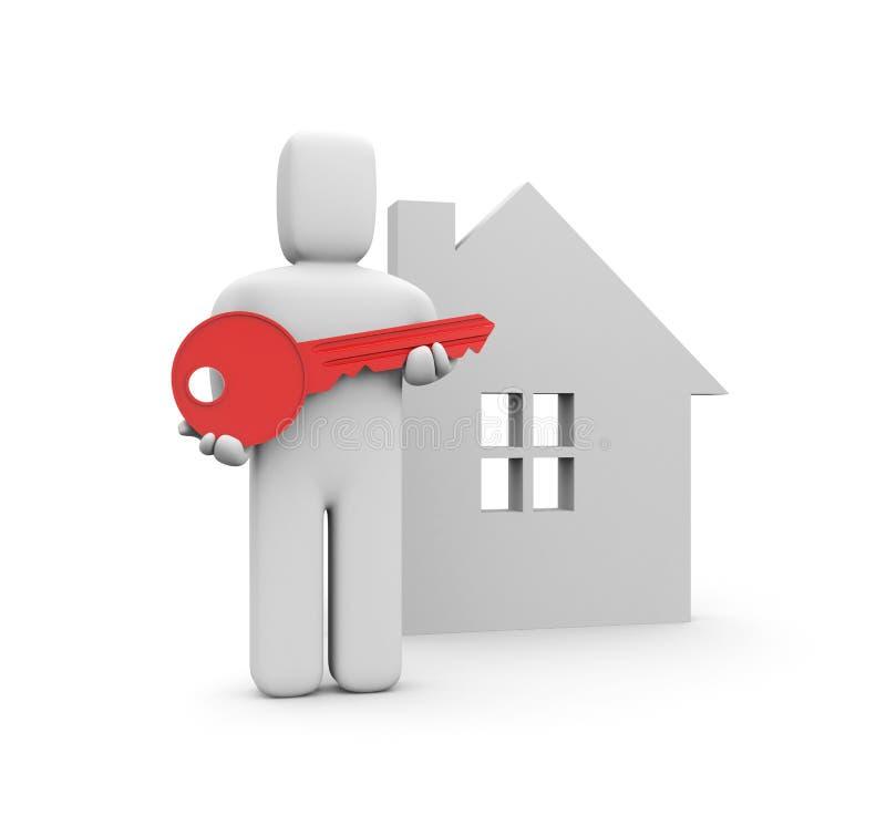 房子关键新 向量例证