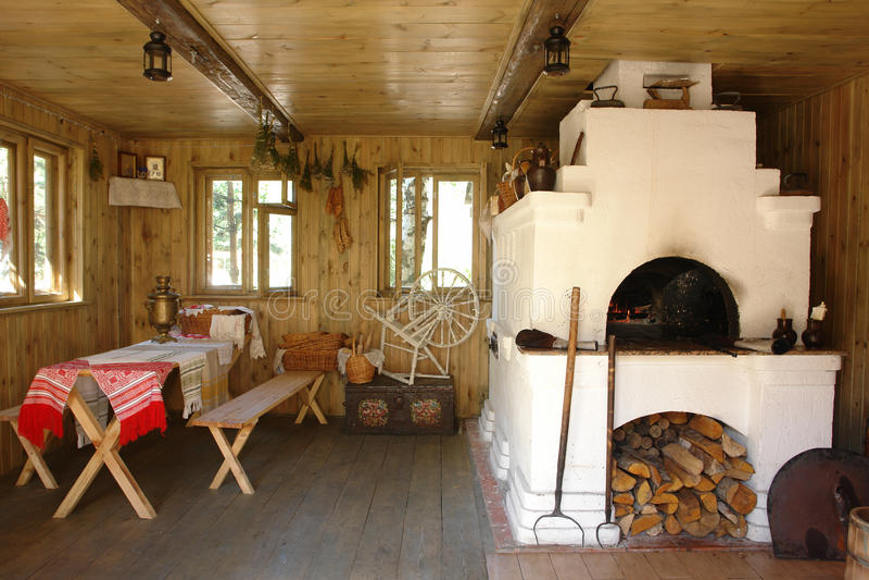 房子内部烤箱 库存照片