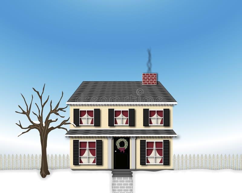 房子冬天 库存例证