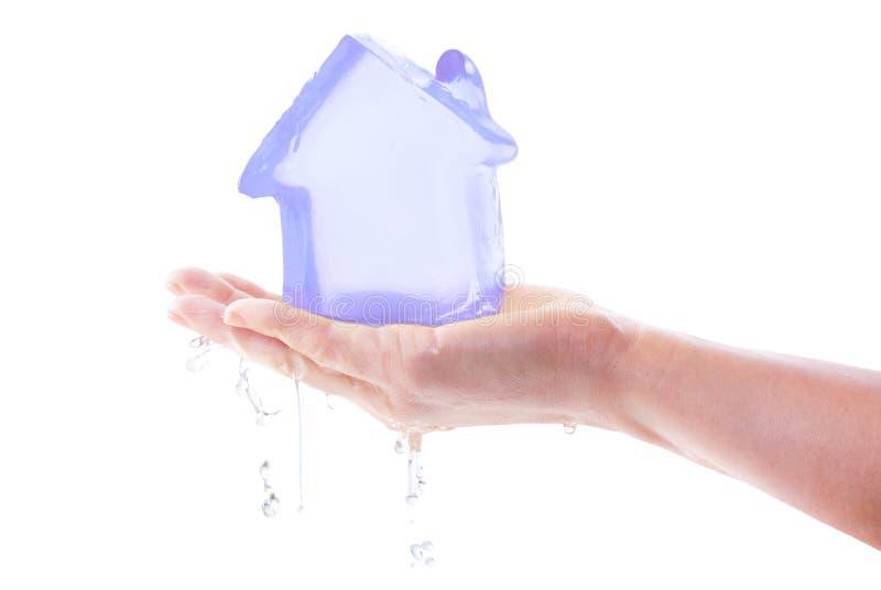 房子冰冷熔化 免版税库存图片