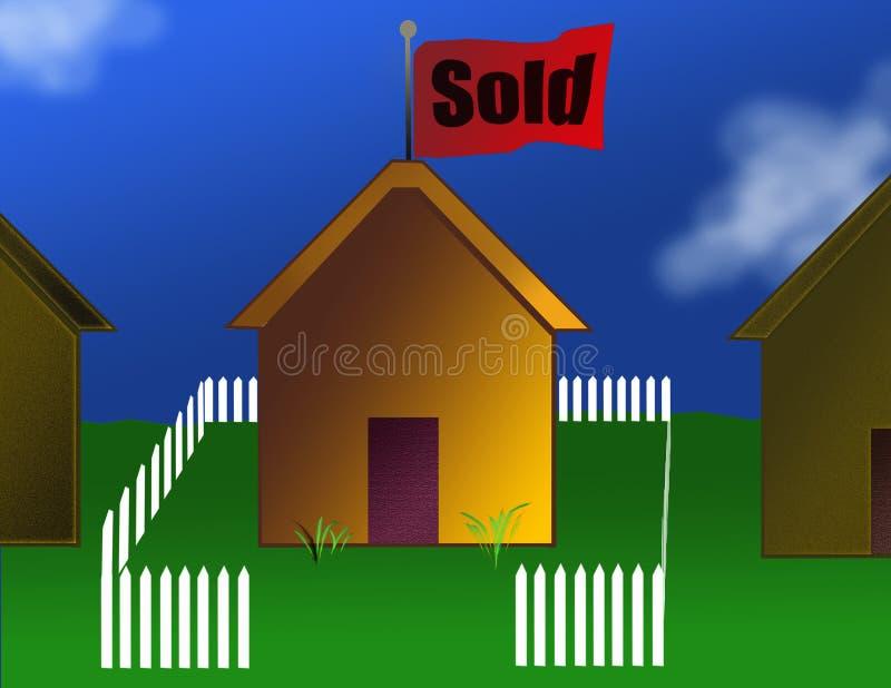 房子出售 向量例证