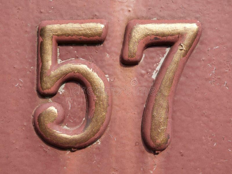 房子号码五十七 库存图片