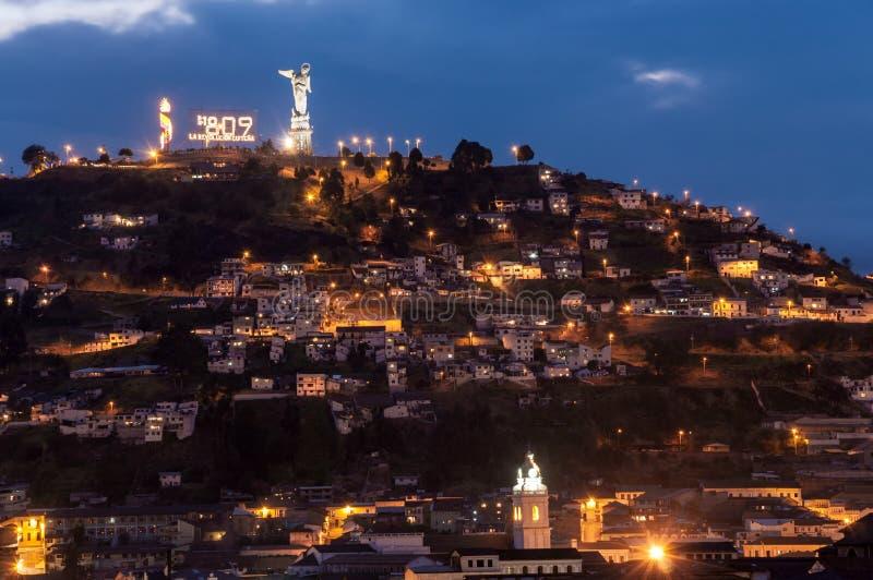基多厄瓜多尔小山 库存图片