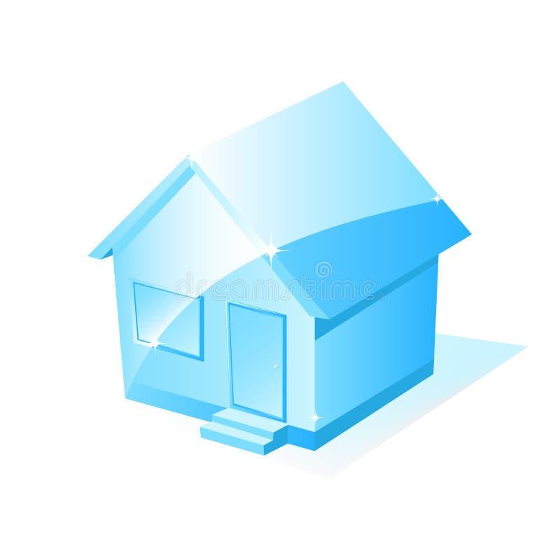 房子图标向量 向量例证