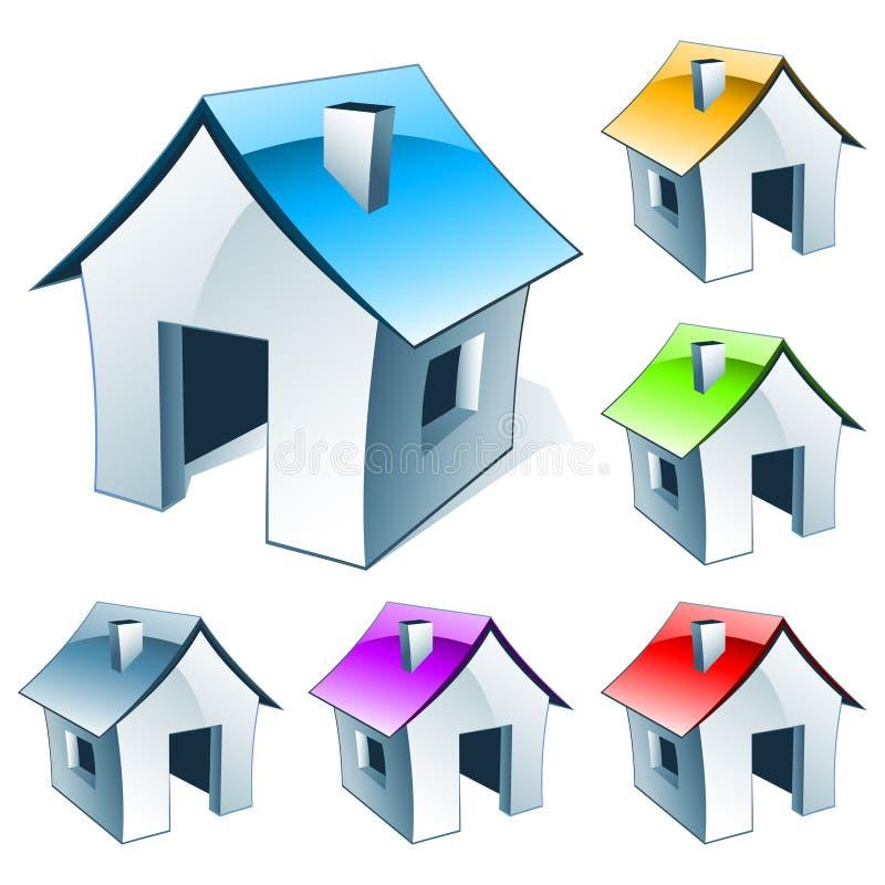 房子图标 向量例证