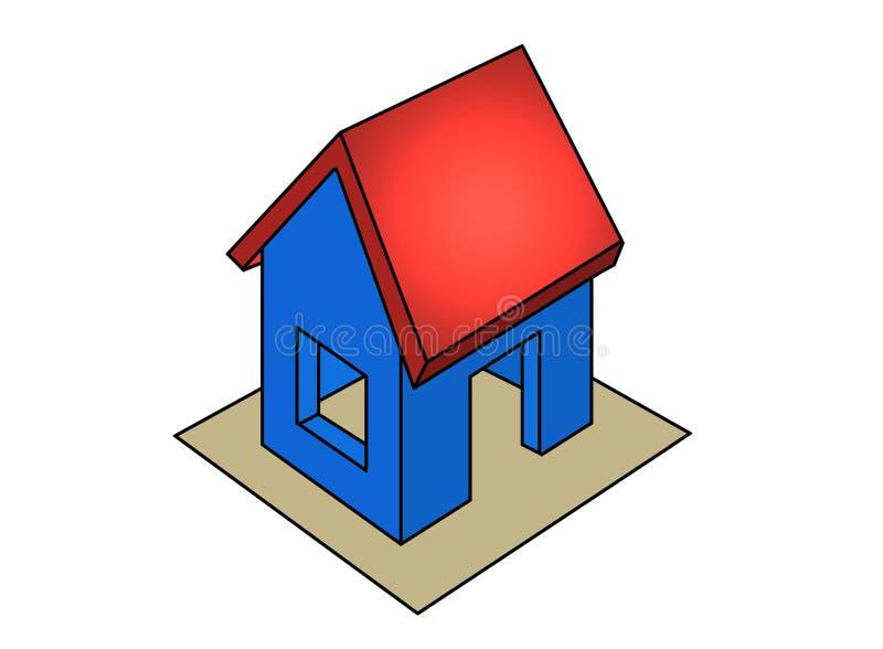 房子图标 皇族释放例证