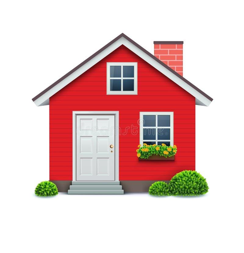 房子图标 库存例证