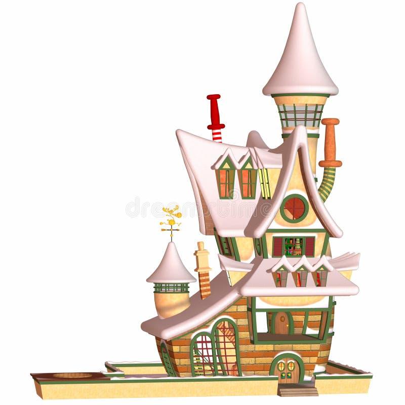 房子圣诞老人印度桃花心木 皇族释放例证