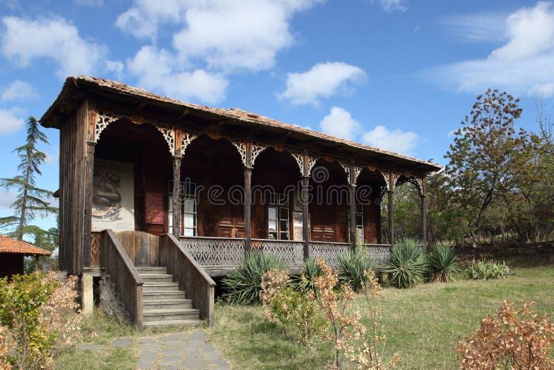 房子在第比利斯人种学露天博物馆,乔治亚 免版税库存图片