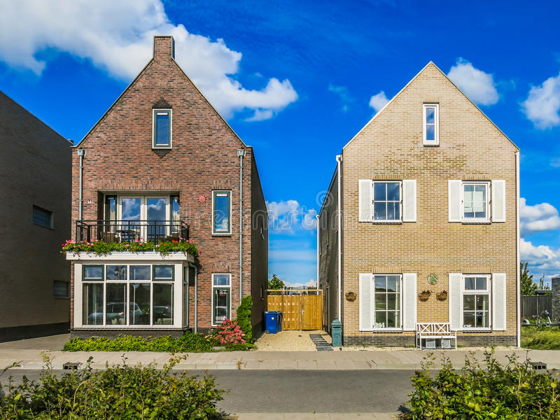 房子在阿尔梅勒,荷兰 库存图片