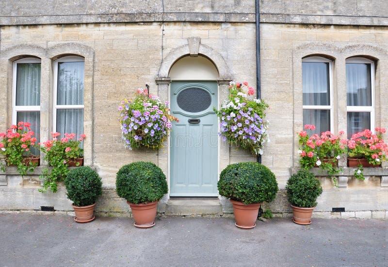 房子城镇维多利亚女王时代的著名人&# 免版税库存图片