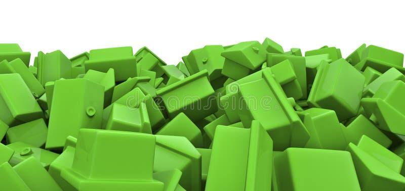 房子堆玩具 向量例证