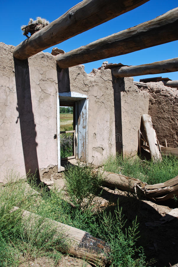 房子墨西哥泥老西班牙语 免版税库存图片