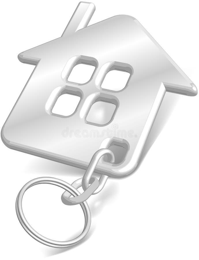 房子小装饰品白色 向量例证