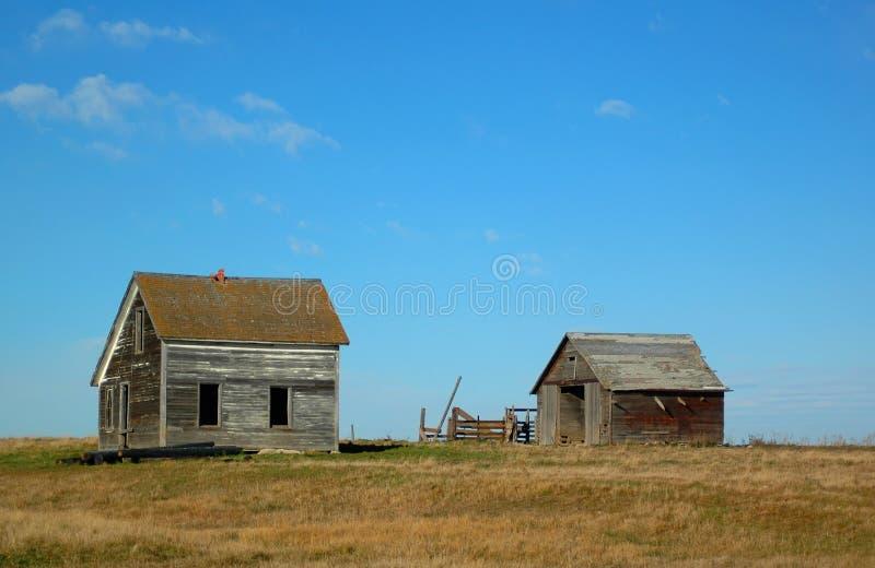 房子少许大草原 图库摄影