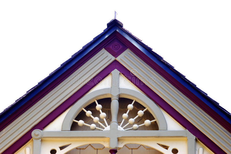 房子屋顶技巧 库存照片
