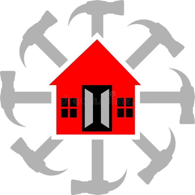 房子徽标服务 向量例证