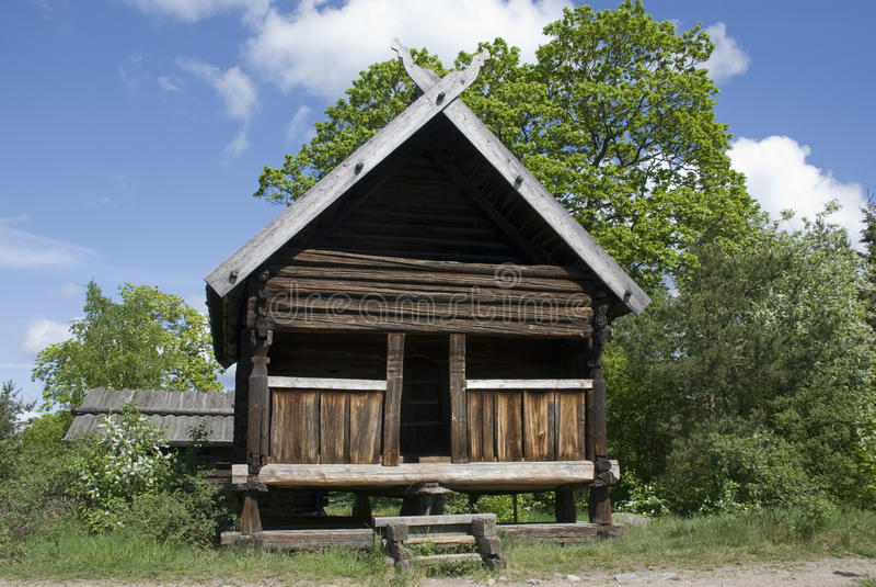 房子斯堪的纳维亚人 免版税库存照片